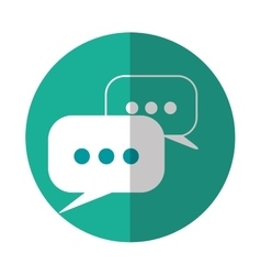 Chat mobile messaging icon image vector