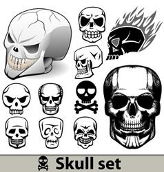 skulls set vector image