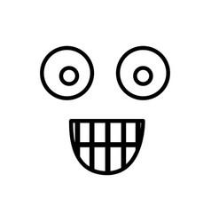 sketch silhouette emoticon surprised expression vector image
