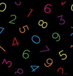 colorful numeral seamless wallpaper pattern vector image