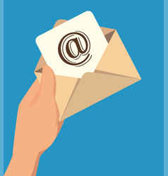 Envelope mail concept isolated icon vector