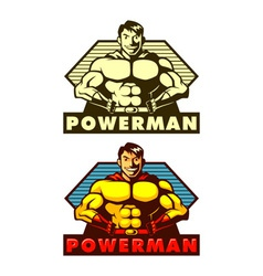 Powerman mascot vector