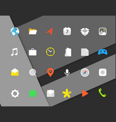 Modern smartphone color icons set different web vector