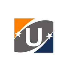 Success solution letter u vector