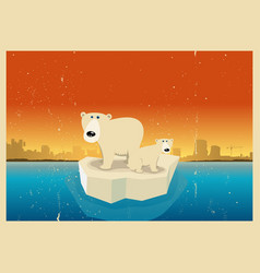 Global warming consequences vector