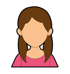 Isolated young woman upperbody vector