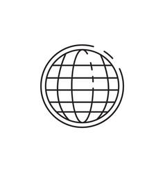 Thin line globe icon vector