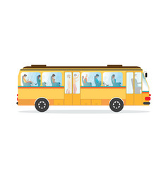 Passengers in public transport bus vector
