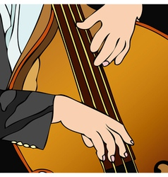 Bass player in concert vector