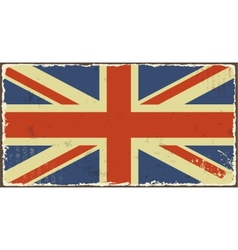 British grunge flags vector