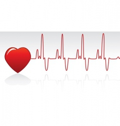 Heart and heartbeat vector