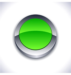 Glossy 3d button vector