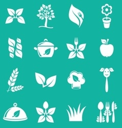 Vegetarian icons vector