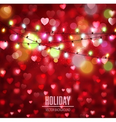 Festive background for valentines day with hearts vector