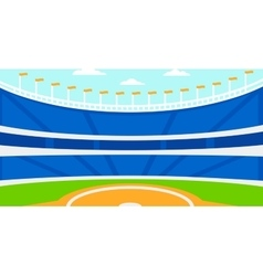 Background of baseball stadium vector