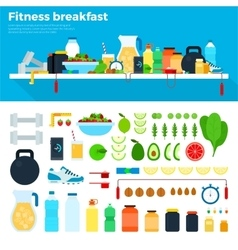 Healthy and nutritious breakfast vector