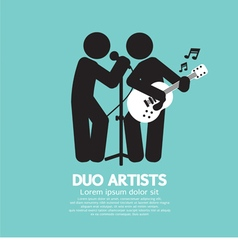 Duo artists black symbol vector
