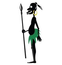 Aboriginal with spear vector