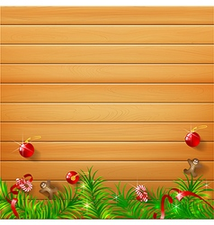 Abstract background realistic nature wood with red vector image vector image