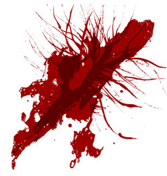 Abstract splatter red color background design vector