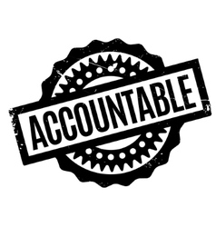 Accountable rubber stamp vector