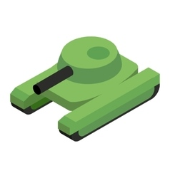 Army tank isometric 3d icon vector