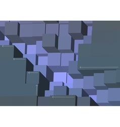 arrows on cubes vector image vector image