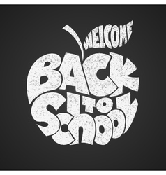 Back to school Chalk lettering inscribed in the vector image