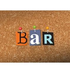 Bar concept vector