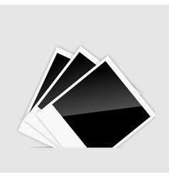 blank Instant photos vector image