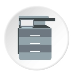 Boxes in table icon flat style vector