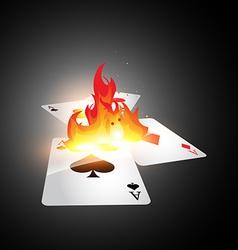 Burning card vector