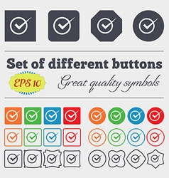 Check mark sign icon Checkbox button Big set of vector image vector image