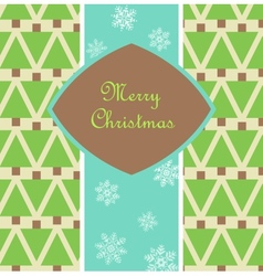 Christmas card with pines vector image