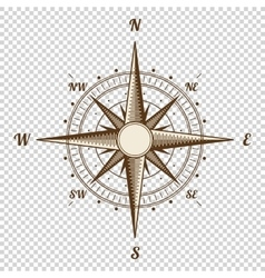 Compass height quality old vector
