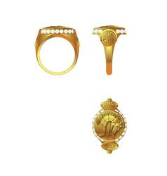 Dragon ring vector