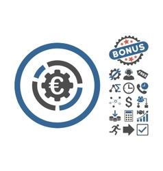 Euro diagram options flat icon with bonus vector