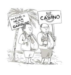 Fat samoan preacher protesting cartoon vector