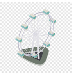 ferris wheel isometric icon vector image