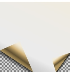 Folded pearl white foil blank note planner vector image