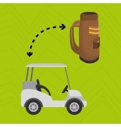 golf equipment design vector image