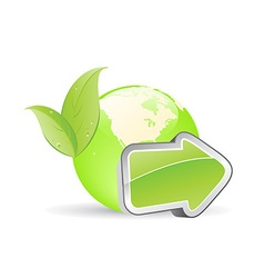 green globe with arrow and eco-friendly concept vector image
