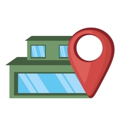 House real estate pin map location vector
