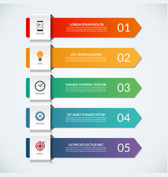infographic arrows 5 options steps parts vector image vector image