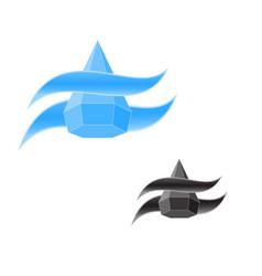 Logo water drop vector
