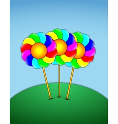Lollipops in the form of flowers vector image vector image