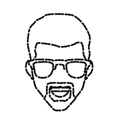 man with sunglasses smiling vector image