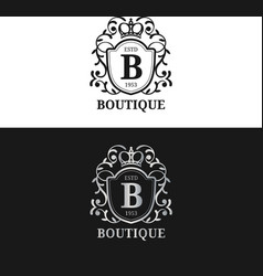 monogram logo template luxury letter vector image