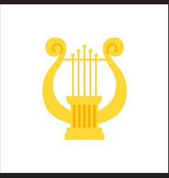 Music school logo lyre or cither icon vector