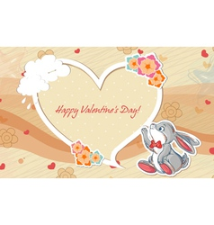 Rabbit with frame vector